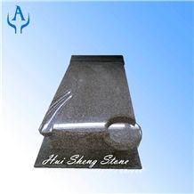 Monument Tombstone, Crystal Fujian Brown Granite