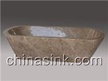 Light Emperador Bathroom Bathtub, Light Emperador Brown Marble Bathtub