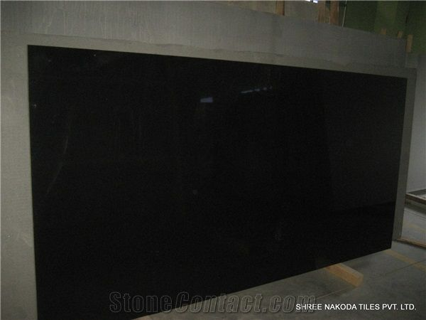 Absolute Black Granite Slabs From India