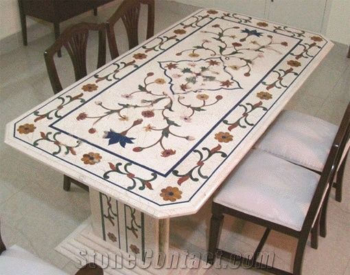 Well-known Marble Inlay Table Top from Pakistan-104500 - StoneContact.com NX36
