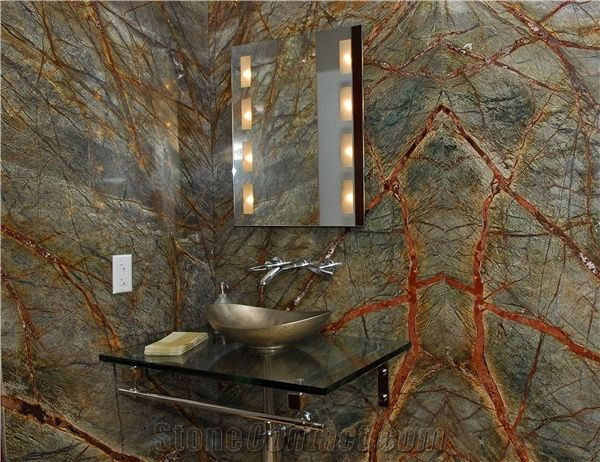 Rain Forest Green Bathroom Design Sample Rain Forest