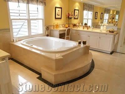 Crema marfil bathroom design beige marble bathroom design from argentina for Crema marfil bathroom countertop