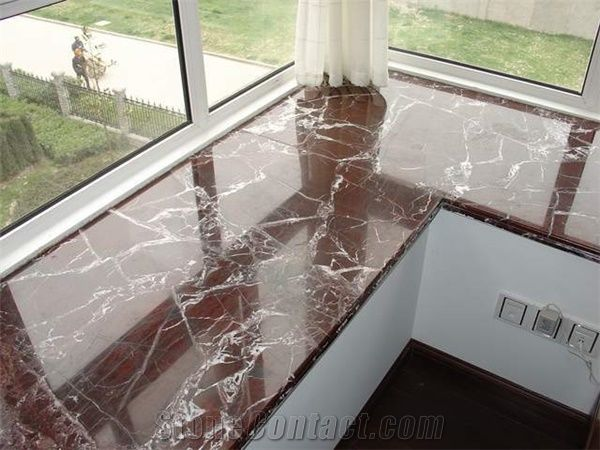 Rosso Levanto Marble Window Sill, Rosso Levanto Red Marble