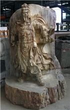 Wooden Onyx Sculpture, Brown Onyx Sculpture