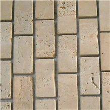 Mahallat Beige Travertine Mosaic