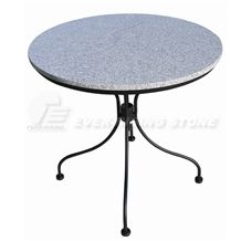 China Grey Granite Garden Circular Table and Bench