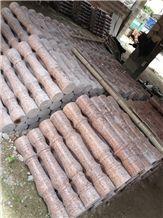Red Granite Railings & Balustrade