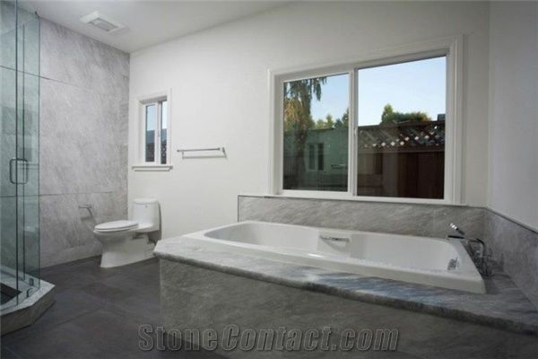 Bardiglio Imperiale Marble Bathroom Remodeling Grey Bath Design