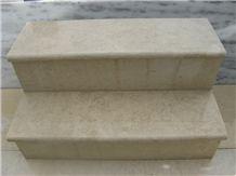 Dionysos Vratza Steps, Beige Limestone