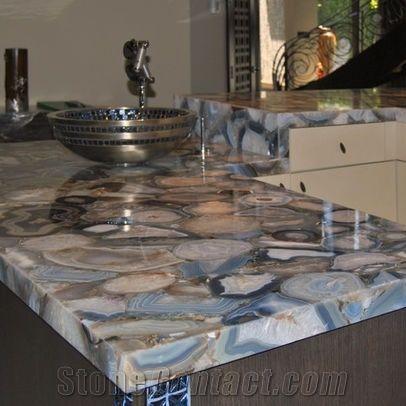 Blue Agate Slabs Countertop