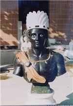 African Black Stone Sculpture, Black Marble Sculpture
