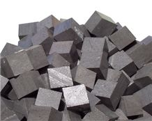 Basalt Cube Stone, Cobbles, Develi Black Basalt Cube Stone