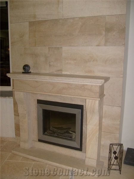 Fireplace In Beauvillon French Limestone Beauvillon Beige