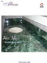 Verde Mare Oscuro Marble Vanity Top, Verde Mare Oscuro Green Marble Vanity Top