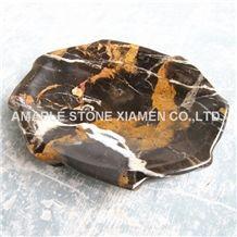 Gold Black Marble Soap Dish