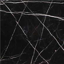 Black White Strip Slabs & Tiles, Toros Black Marble Slabs & Tiles