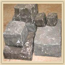 Black Basalt Vietnam Cobbles, Cubes