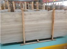 Chinese White Wooden Marble Marble Slabs & Tiles