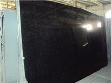 Polished Black Galaxy Granite Big Slab