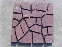 Dayang Red Natural Stone on Net, Dayang Red Granite Cobble, Pavers