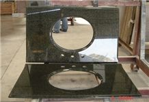 Emerald Pearl Vanity Tops Green Granite Countertops with Backsplash