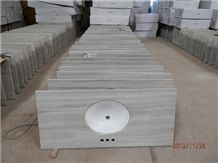 White Wooden Vein Vanity Tops