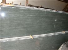 Wooden Green Marble Slab