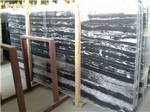 Silver Dragon Marble, China Black Marble Slabs & Tiles