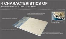 Aluminium Honeycomb Backed Marble/Granite Panel