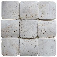Travertine Mosaic Tile T015, Hubei Beige Travertine Mosaic