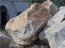 Marble Big Boulders with Jasper and Lapis Lazuli, Pakistan White Marble