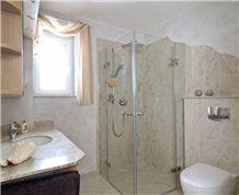 Champagne Mist Granite Bathroom, Champagne Mist White Granite Bath Design