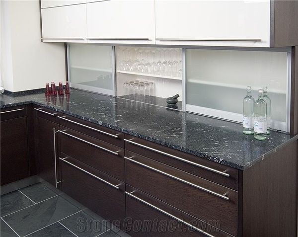 Jet Mist Black Granite Kitchen Countertop From Germany