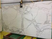 Statuario Venato Marble Slabs, Italy White Marble