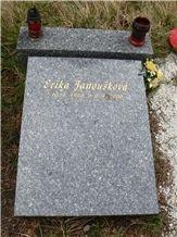 Tisska Slant Gravestone, Tisska Zula Grey Granite Slant Gravestone