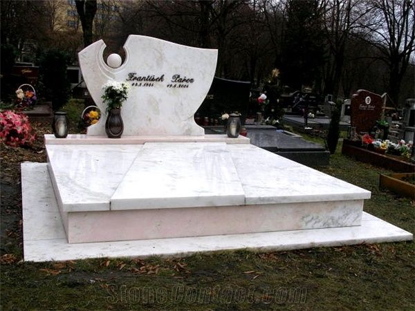 Supikovice White Marble Monument From Czech Republic