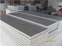 Polished G640 Granite Step, Bianco Sardo Grey Granite Step