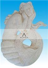Zhongxi White Marble Relief