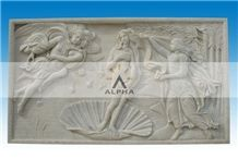 Marble Statue Relief, Dino Beige Marble Relief