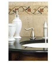 Classic Travertine Mosaic Deco, Beige Travertine Deco