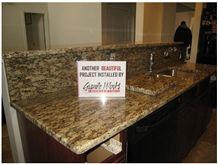 Juparana Boreal Kitchen Countertops, Juparana Boreal Yellow Granite Kitchen Countertops