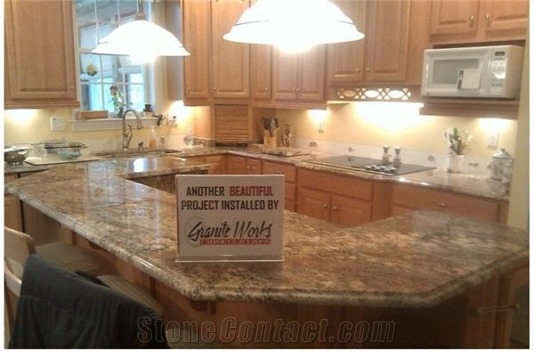 Juparana Crema Bordeaux Kitchen Countertops, Juparana Crema Bordeaux Granite  Kitchen Countertops