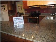New Giallo Veneziano Kitchen Countertop, New Giallo Veneziano Yellow Granite Kitchen Countertops