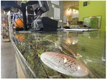 Rain Forest Green Desk Top, Work Top, Rain Forest Green Marble Work Tops