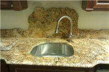 Solarius Granite Kitchen Countertops, Solarius Yellow Granite Kitchen Countertops