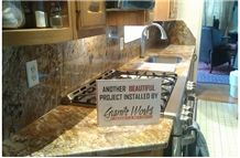 Tropical Delicatus Gold Kitchen Countertop, Delicatus Gold Yellow Granite Kitchen Countertops