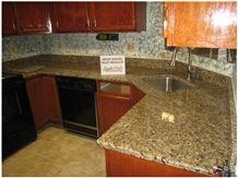 Tropical Gold Granite Kitchen Countertop, Tropical Gold Yellow Granite Kitchen Countertops