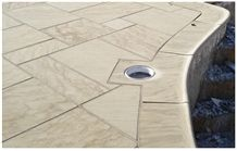 Berea Sandstone Patio and Saddle Pool Coping, Berea Beige Sandstone Pool Coping