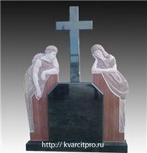 Karelia Black Granite Cross Tombstone