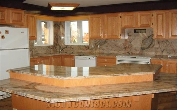 Golden Crystal Granite Countertop Golden Crystal Yellow